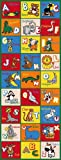 Kids / Baby Room / Daycare / Classroom / Playroom Area Rug. Alphabet Animals. Zoo. Educational. Fun. Non-Slip Gel Back. Bright Colorful Vibrant Colors (2 Feet X 7 Feet Runner)