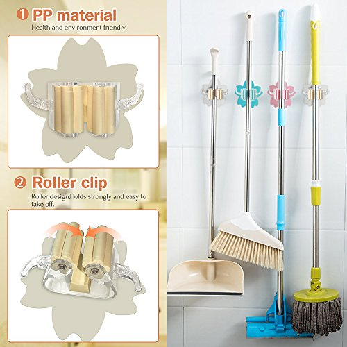 Broom hanger, Mop and Broom Holder (4) by LNGOOR (Image #2)