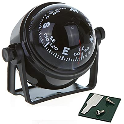 HDE Compact Marine Boat Compass with Bracket Mount