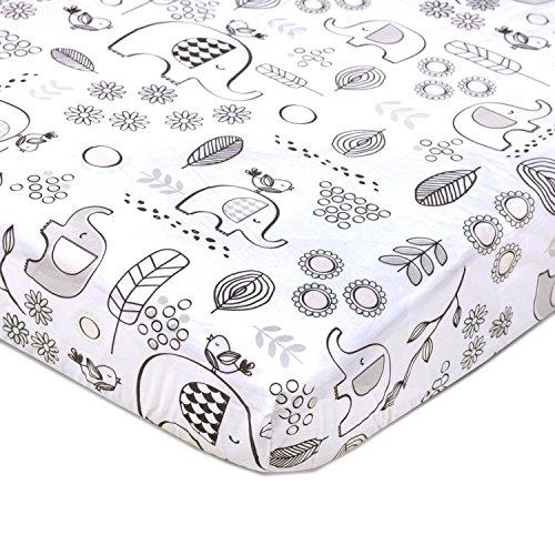 Lolli Living 100% Cotton Crib Fitted Sheet. Kayden Elle Elep