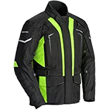 TourMaster Men's Transition Series 5 Jacket (Black/Hi-Viz, Tall Medium), 1 Pack