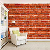100yellow 3D Brick Pattern Self Adhesive Peel and Stick Waterproof HD Wallpaper (PVC Vinyl, 44 Sq ft, Multicolour)