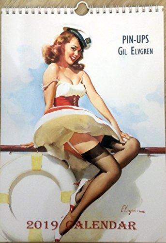 Gil Elvgren Wall Calendar 2019 Pin up Glam Sexy Girl Retro Vintage A4