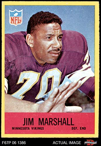 1967 Philadelphia # 103 Jim Marshall Minnesota Vikings (Football Card) Dean's Cards 4 - VG/EX Vikings