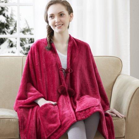 Wrap Cozy Plush Fleece Throw Blanket - RED (Fleece Fabric Throw Blanket)