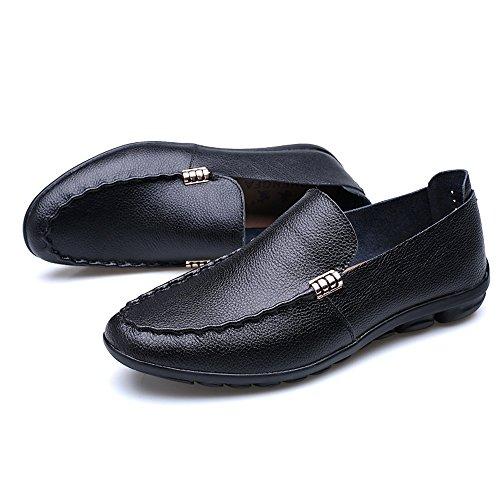 Zapatos de suave abrasión 38 Navy de hombres para la amp;Baby caballeros a goma Navy Size genuino de Color Casual suela los plana EU cuero Resistente holgazán clásicos Sunny O8C54qwC