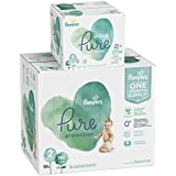 Pampers Pure Protection Diapers Size 2 186 Count with Aqua Pure 6X Pop-Top Sensitive Water Baby Wipes - 336 Count