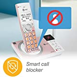 AT&T CL82557 5 Handset Answering System with Caller ID Announce, Rose Gold