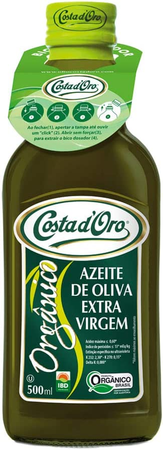 Azeite de Oliva Extravirgem Costa D'Oro Orgânico 500ml