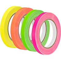 Impact Neon Spike Tape 4-Pack (Green, Pink, Yellow, Orange, 0.5 x 20 yd)