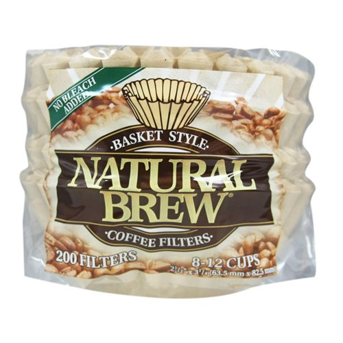Natural Brew Basket Filters 200 Count