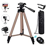 Eocean Tripod, 50-inch Video Tripod for Cellphone with iOS Andriod...