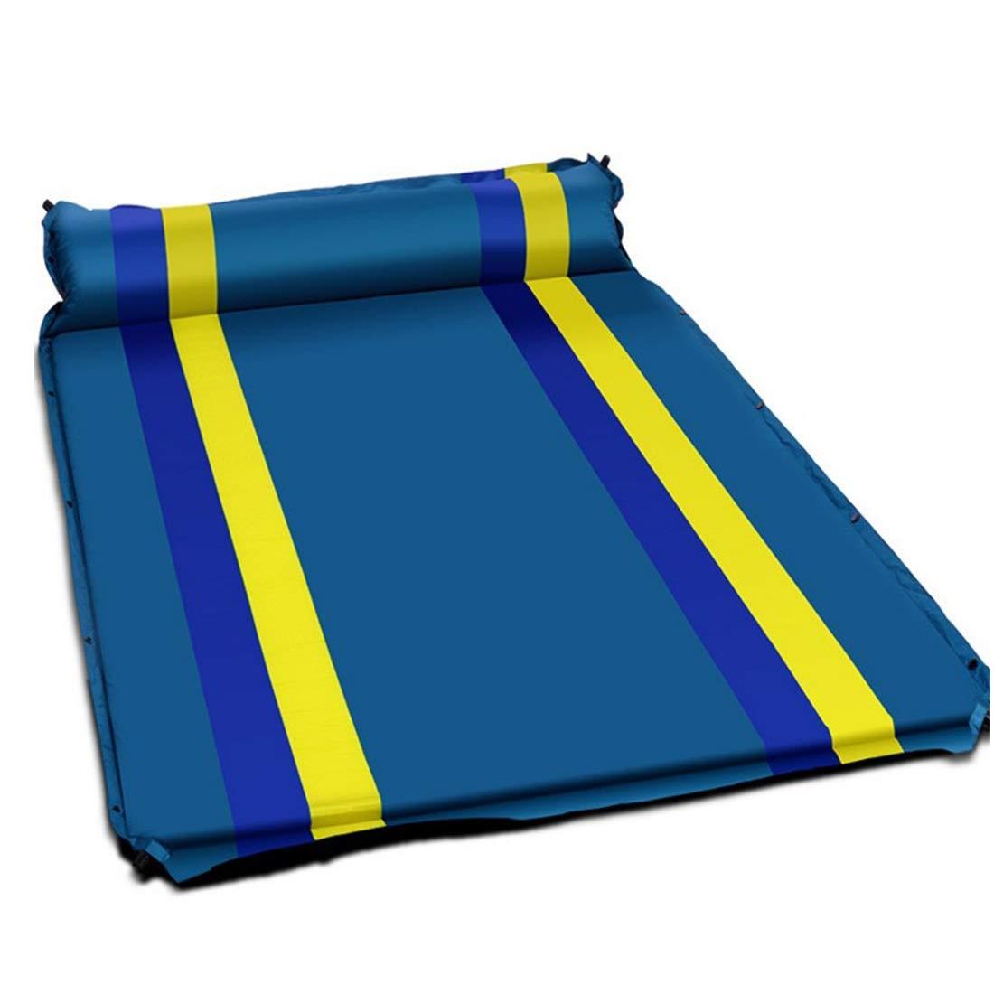 Ofliery Aufblasbares automatisches Kissen aufgeweitetes Starkes Zelt im Freien feuchtigkeitsfeste Schlafmatte (Farbe : Blau)
