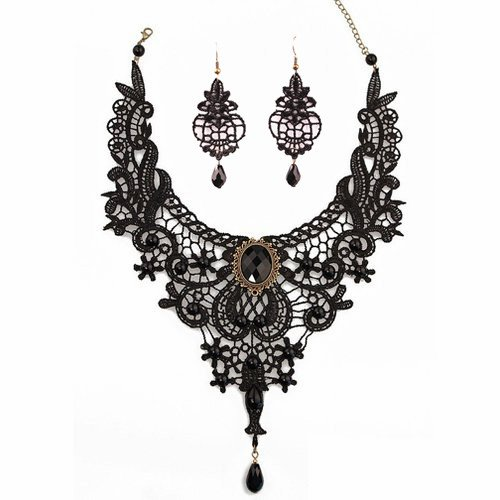 Meiysh Black Lace Gothic Lolita Pendant  - Jewelry Sets Shopping Results
