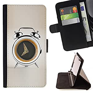 DEVIL CASE - FOR Apple Iphone 5C - Coffee Alarm Funny - Style PU Leather Case Wallet Flip Stand Flap Closure Cover