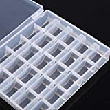 1pc Clear Transparent Plastic Sewing Machine Bobbin Case Empty Thread Wire Spool Organizer Storage Container with 25 Separated Compartments