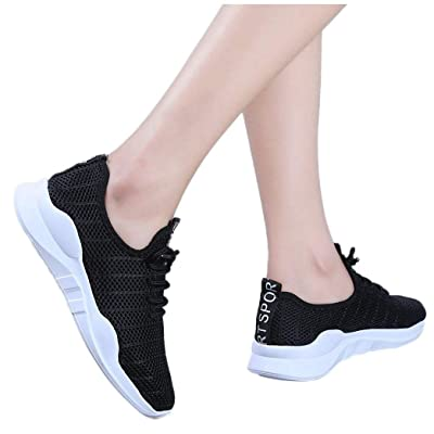 Frunalte Women's Sneakers,Fashion Ladies Casual Anti-Slip Sport Walking Sneakers Lace Up Running Soft Loafer Shoes: Clothing