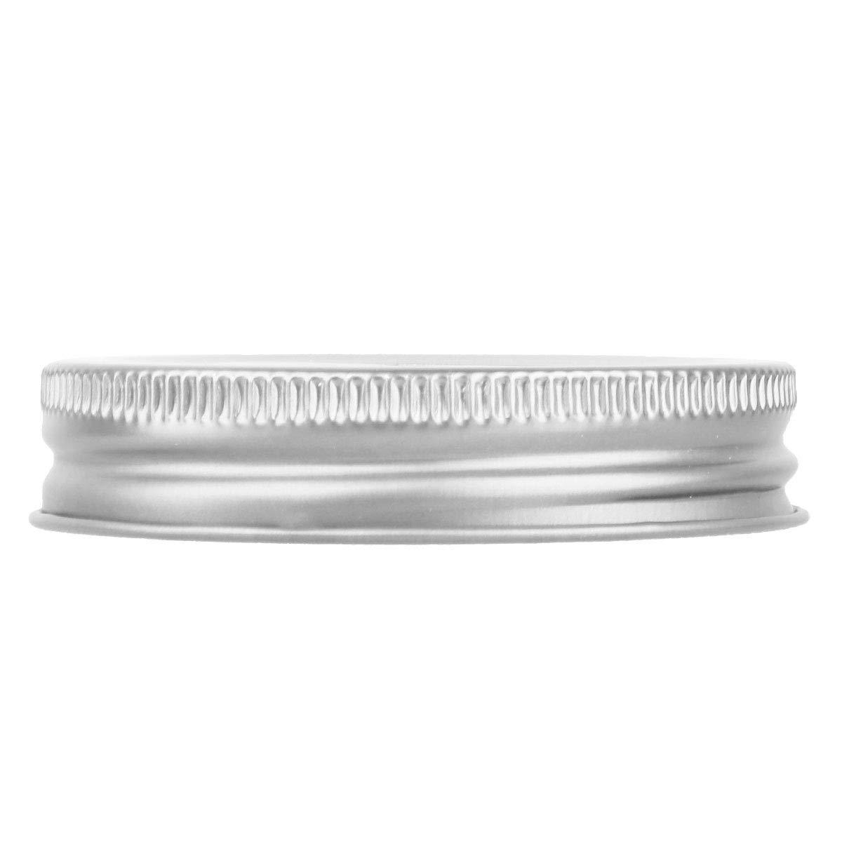 TiaoBug 8 Pieces Metal Coin Slot Bank Lids for Mason Jar Ball Canning Jars Silver One Size by TiaoBug (Image #4)