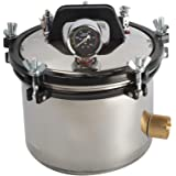8L Portable Steam Autoclave Sterilizer Lab Stainless Steel Pressure Steam Sterilizer 2.11Gallon 110V(Deliver Within 3-7Days)