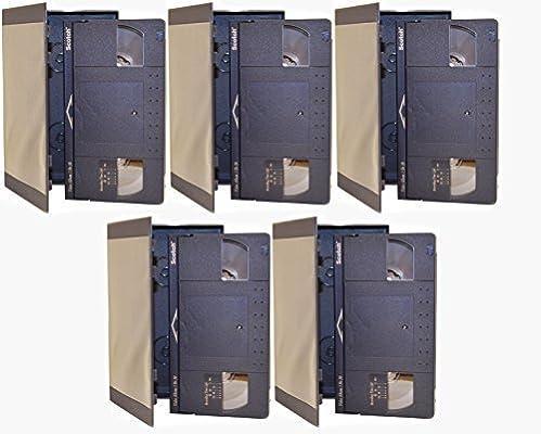 Paquete de 5) Escocés profesional en blanco VHS hi-fi Stereo Video casete cintas de 90 minutos 3M: Amazon.es: Electrónica