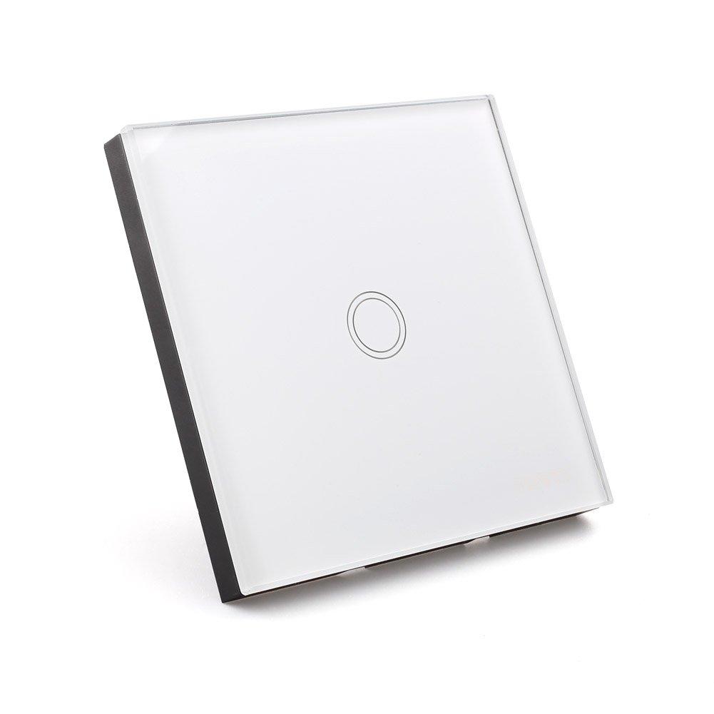 Amzdeal Lichtschalter Glas Touchscreen Wandschalter schalter (1 weg ...
