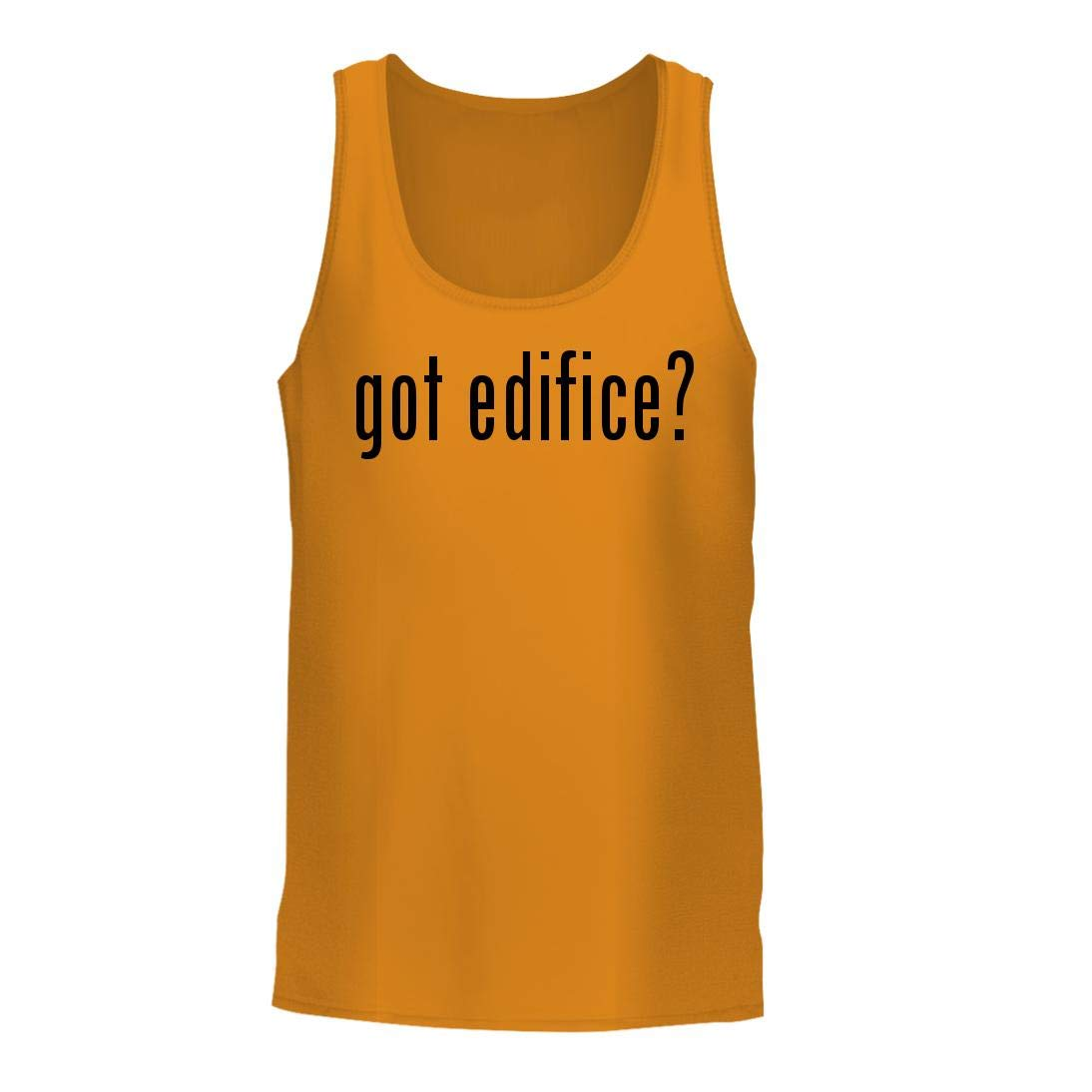 got Edifice? - A Nice Men's Tank Top, Gold, Large by Shirt Me Up