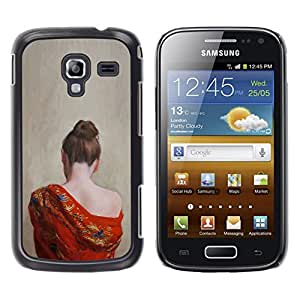 iKiki Tech / Estuche rígido - Pale Skin Woman Naked Shoulder - Samsung Galaxy Ace 2 I8160 Ace II X S7560M