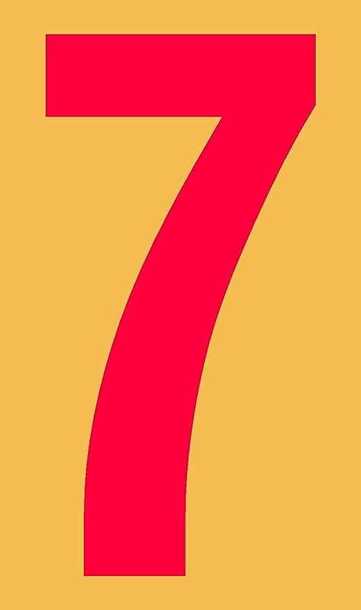 selbstklebend aus HartPlastic,15mm bis 200mm f/ür innen und au/ßen in schwarz Ziffer 5 seewasserfest 120mm, schwarz wei/ß oder rot