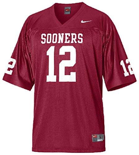 Oklahoma Sooners #12 Youth Crimson Football Jersey by Nike (L=16-18)