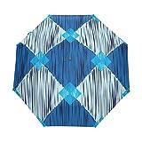 DOENR Compact Travel Umbrella Diamond Sun and Rain Auto Open Close Lightweight Portable Folding Umbrella