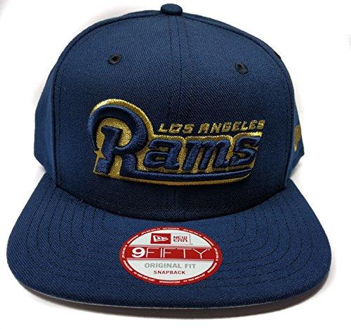 NFL Los Angeles Rams Official Wordmark New Era 9FIFTY Snapback Hat - Navy Blue