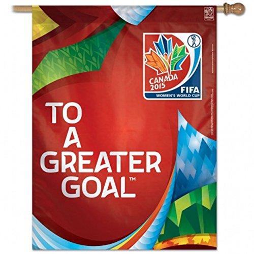"Women's FIFA Vertical Flag Generic World Cup Soccer 2015 27"" x 37"""