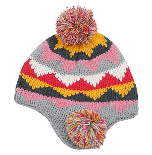 Connectyle Girls Boys Knit Kids Hat Cotton Lined Earflap Beanie Hat Warm Winter Beanies Skull Cap