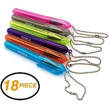 Amazon.com: emraw 18 piezas Palma bolígrafo con llavero ...