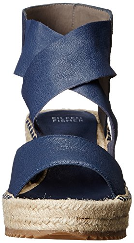 Eileen Fisher Mujeres Willow Alpargata Wedge Sandal Dark Mulberry Tumbled Leather