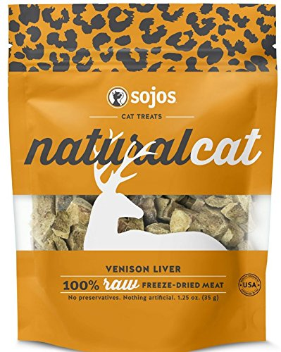 Sojos Natural Cat Treats(1oz bags) (Venison, Pack of 2)