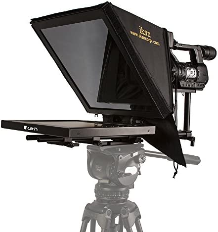 - Black Extreme Clarity Rod Based Ikan15-inch High Bright Beam Splitter Teleprompter PT3500-HB Adjustable Frame