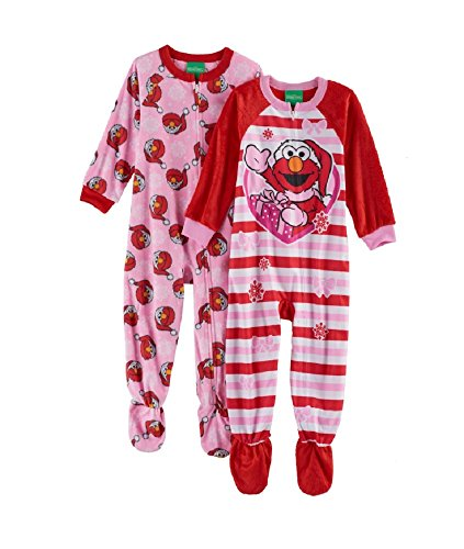 Elmo Fleece Footed Pajama Toddler Girls (4T)]()