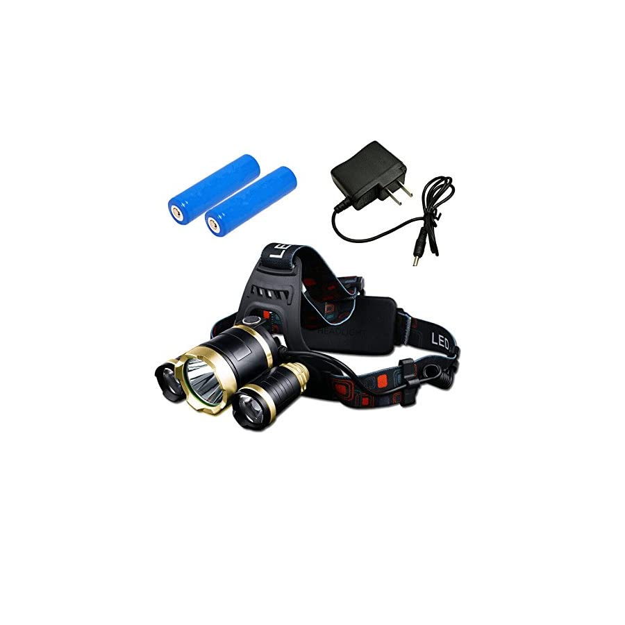 Wewdigi Waterproof LED Headlamp, 4 Mode Hands Free Flashlight, Headlight flashlights for Running Walking Camping Reading Hiking Riding Fishing
