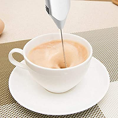 FreeLeben Espumador de leche de acero inoxidable One Touch de mano ...