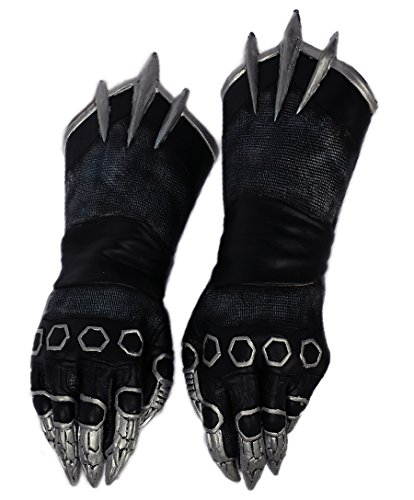 Black Panther Claw Gloves Deluxe Warrior Pack Gauntlet Cosplay Costume Props Xcoser