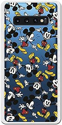 Carcasa Oficial de Disney Mickey Patrón Brazos Clear para Samsung Galaxy S10 Plus - La Casa de Las Carcasas