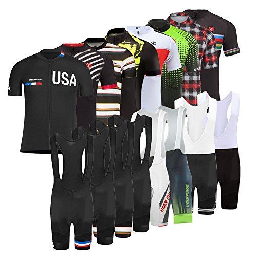 Uglyfrog 2018 Men's Cycling Jersey Suit Short Sleeve Mountain Bike Road Bicycle Shirt Tights Padded Biking Jakcet Outfit BIB Short Pants USDRXYS02