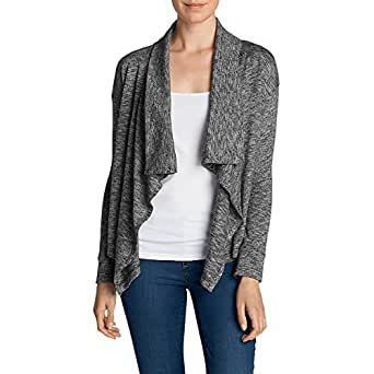 Eddie Bauer Women's 7 Days 7 Ways Cardigan, Black Regular XS Regular