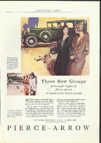 Three New Groups of Straight Eights by Pierce-Arrow ad 1930 Country Life