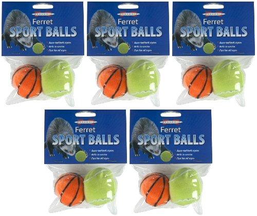 (Marshall Ferret Sport Balls Assorted, 10ct (5 x 2ct))