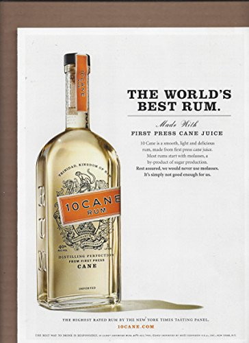 2006 **PRINT AD** For 10 Cane Rum The World's Best Rum