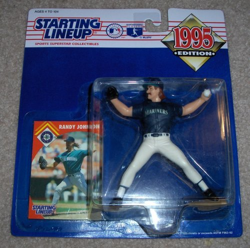 - Starting Lineup Randy Johnson Figure with Trading Card 1995 MLB Baseball Seattle Mariners