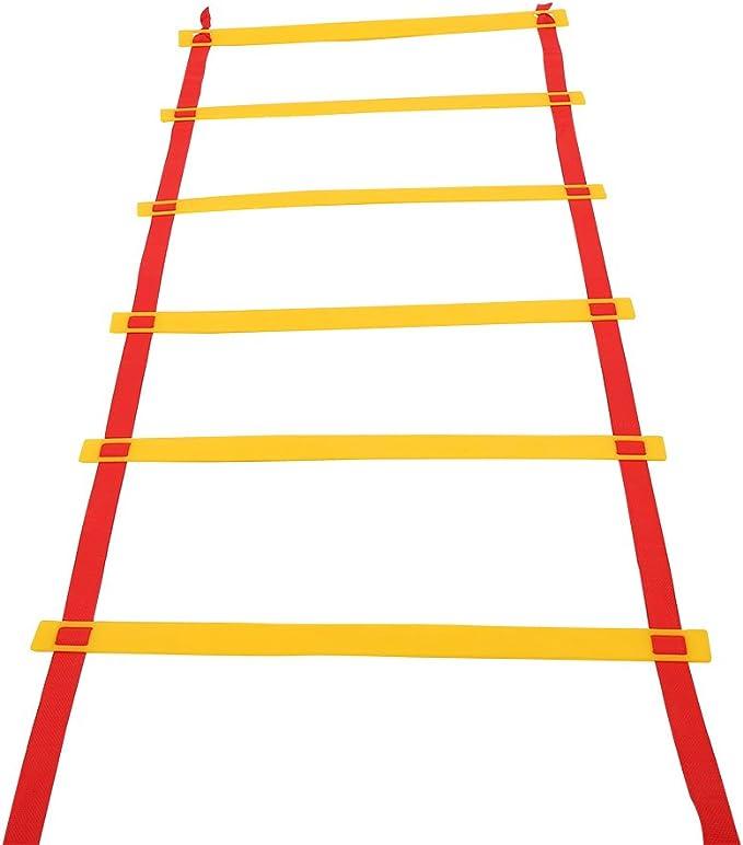 Alomejor Escalera de Agilidad, Ajustable para Baloncesto de fútbol, Entrenamiento de Velocidad con Bolsa de Transporte, 500 cm / 16.4 Feet(10 - Rung): Amazon.es: Deportes y aire libre