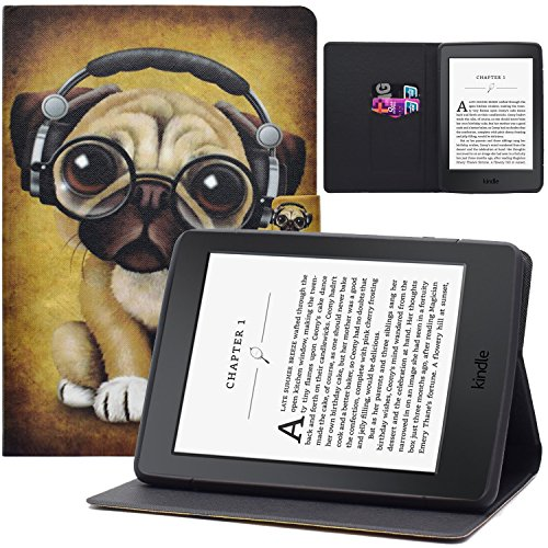 Kindle Paperwhite E-reader Case, Dteck Pretty Cute Smart Stand Case with [Auto Sleep Wake Feature] Ultra Slim Thin Light PU Leather Magnetic Cover for Amazon Kindle Paperwhite E-reader-Music Dog